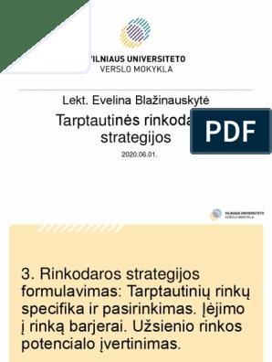 universiteto rinkodaros strategija