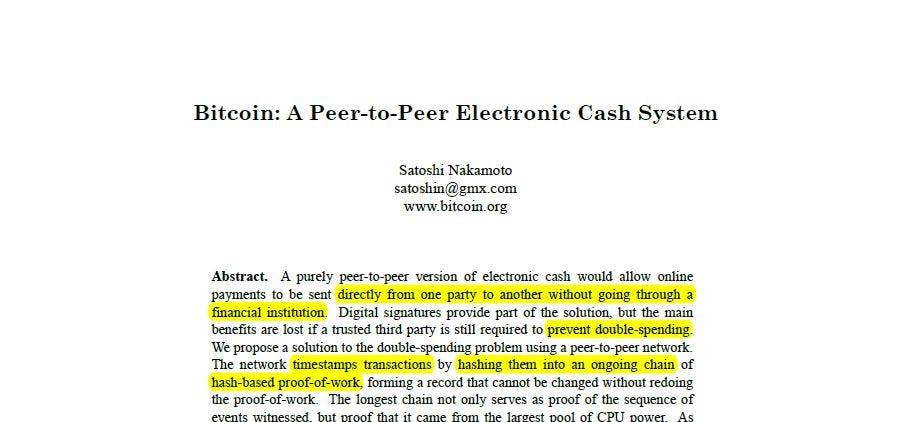 bitcoin satoshi nakamoto paper pdf
