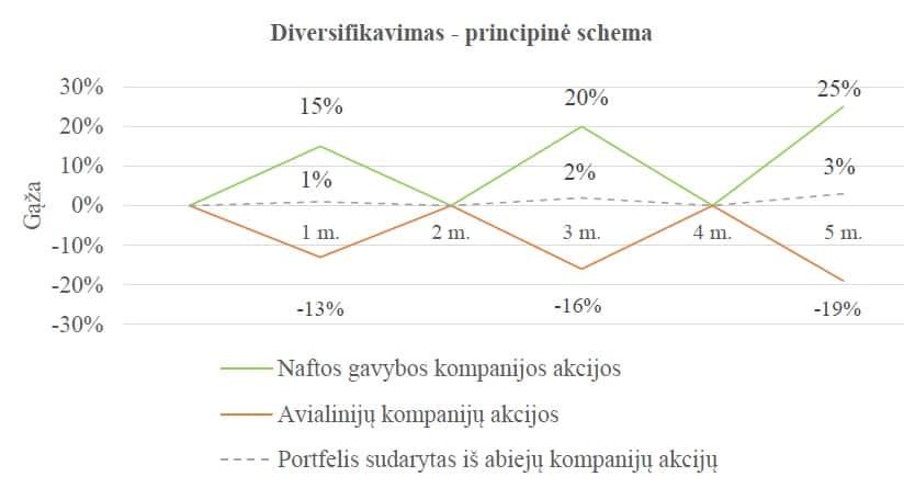 diversifikavimo strategija ir pelningumas