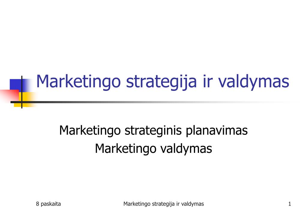 diversifikavimo strategija strateginiame valdyme ppt