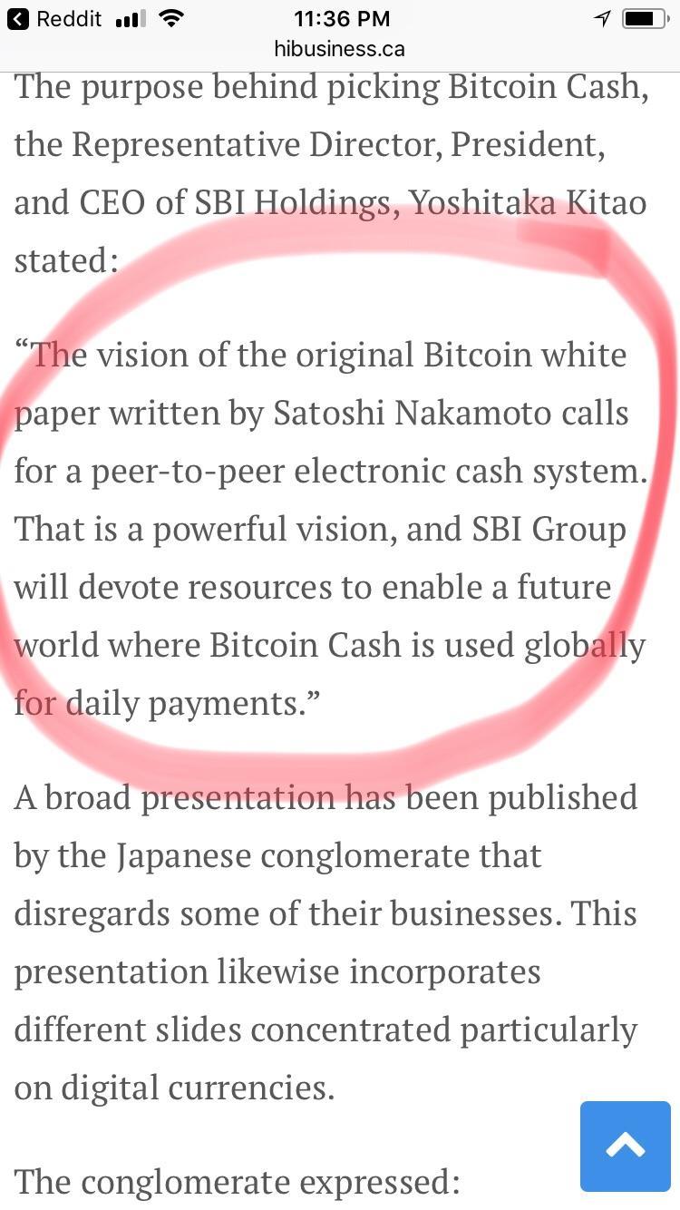 bitcoin satoshi vision reddit kaip aš prekiauju bitkoinais