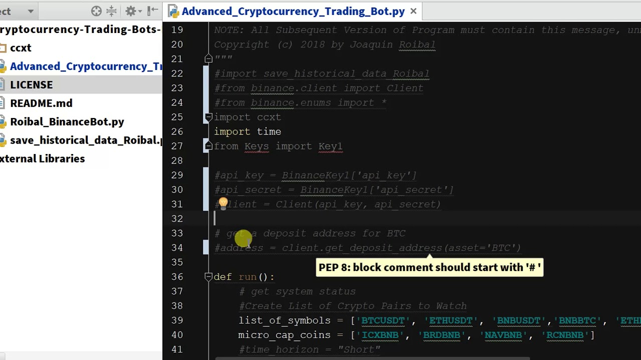 python binance trading bot